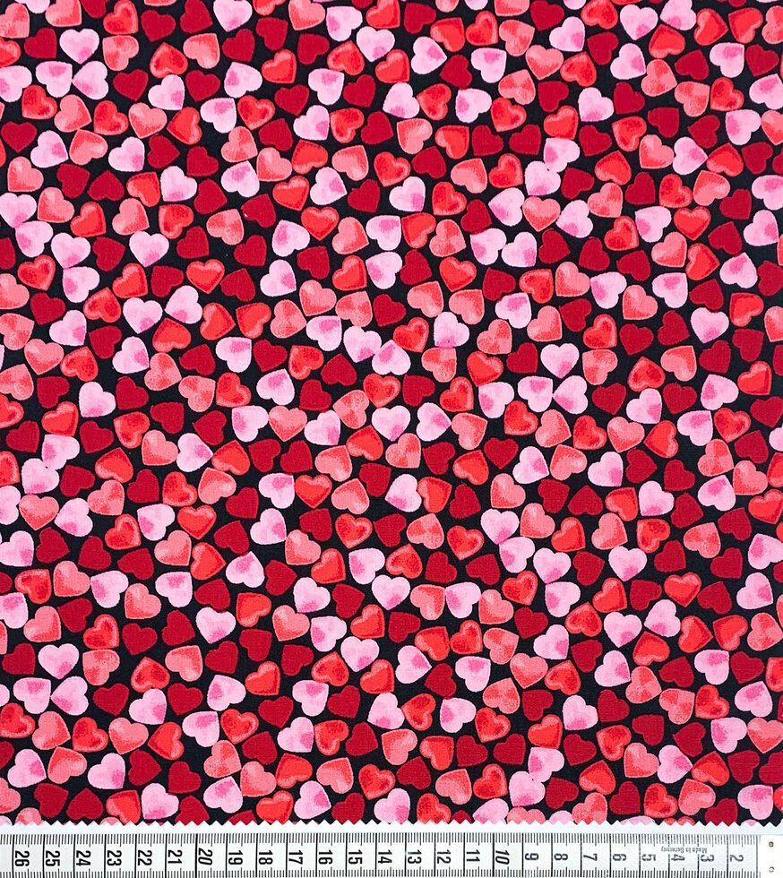 Gordon Fabrics Hearts in Black
