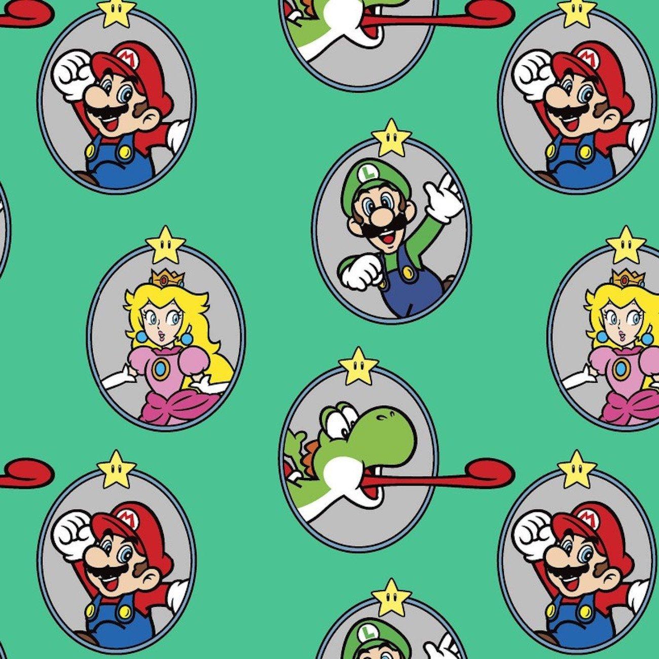 Springs Creative Nintendo's Mario - Super Mario Badge in Aquamarine