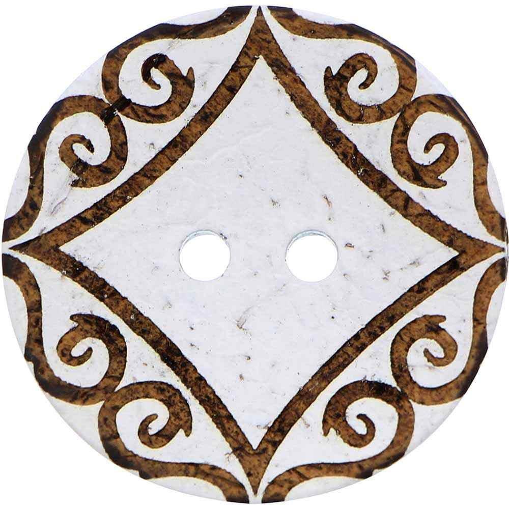 Inspire 2 Hole Button Coconut - White