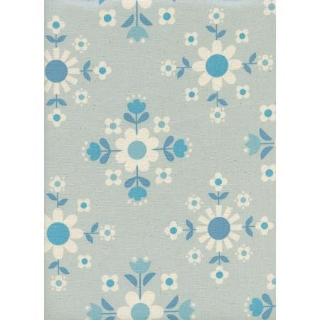 Cotton + Steel Welsummer- Florametry in Ice