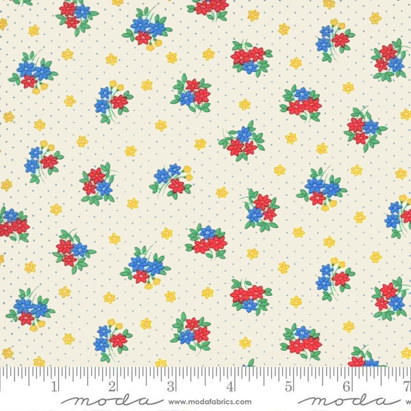Moda 30s Playtime - Bouquet Toss Floral in Eggshell