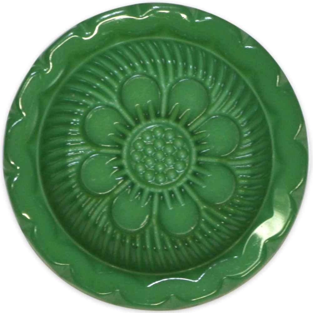 Elan Shank Floral Button - Green