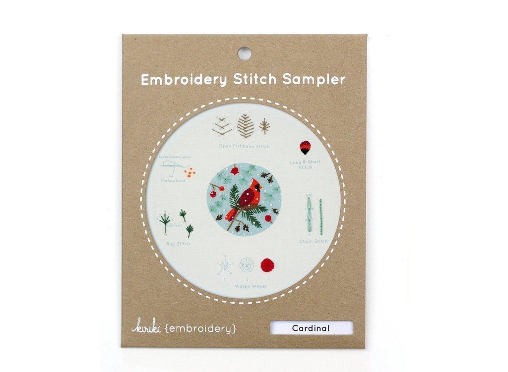 Kiriki Embroidery Stitch Sampler - Cardinal