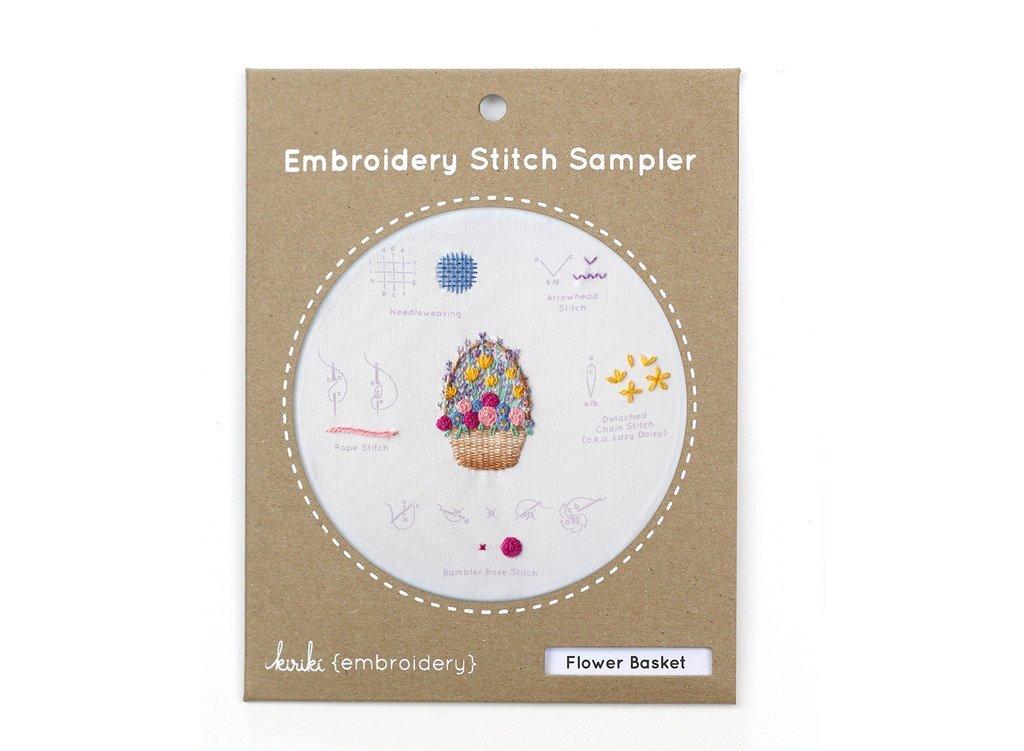 Kiriki Embroidery Stitch Sampler - Flower Basket