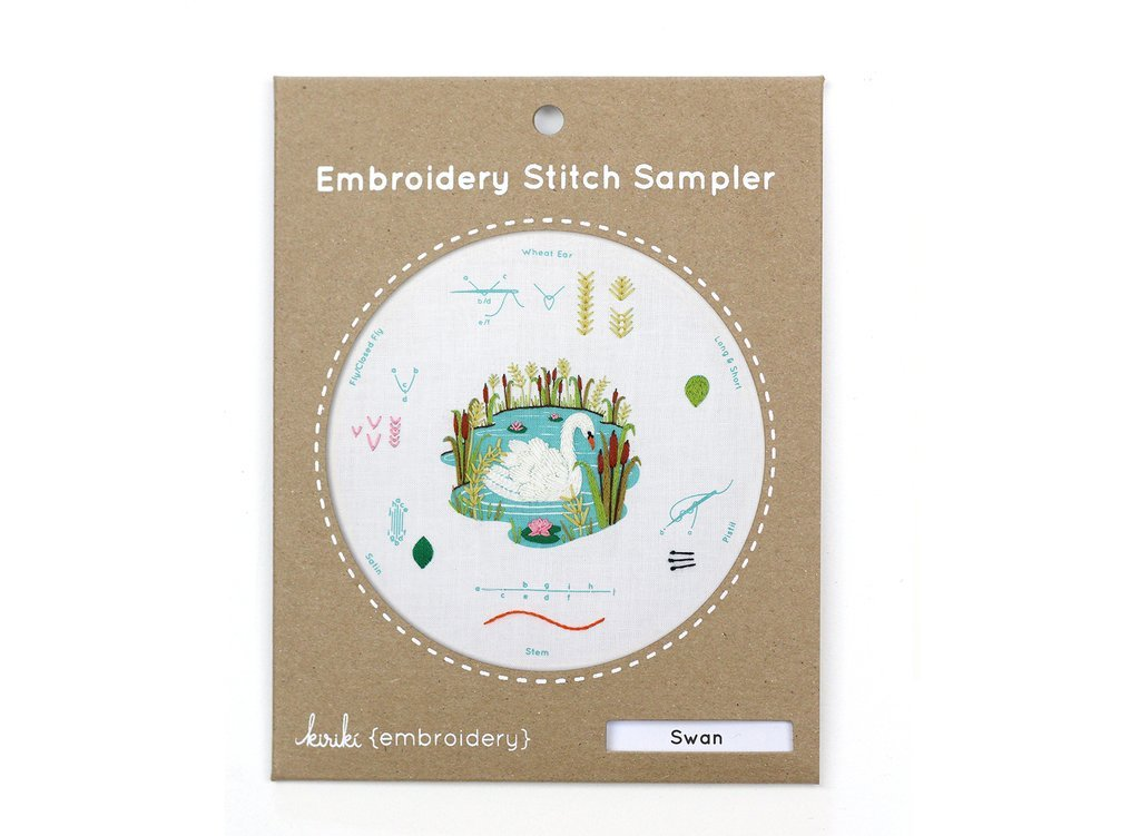 Kiriki Embroidery Stitch Sampler - Swan