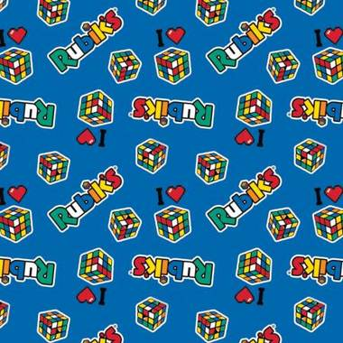 Camelot I Love Rubiks Flannel in Blue
