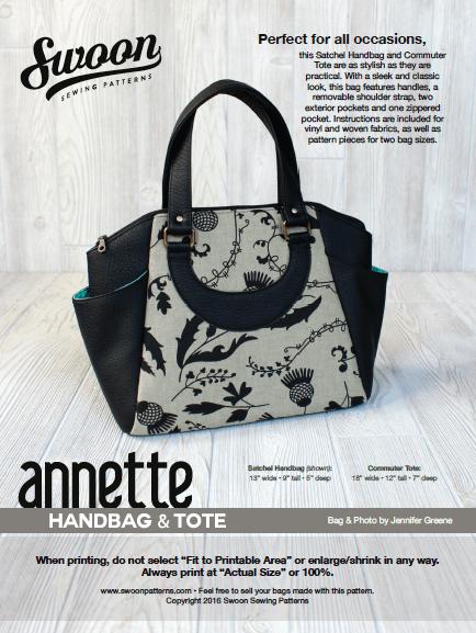 Swoon Annette Satchel Handbag Pattern