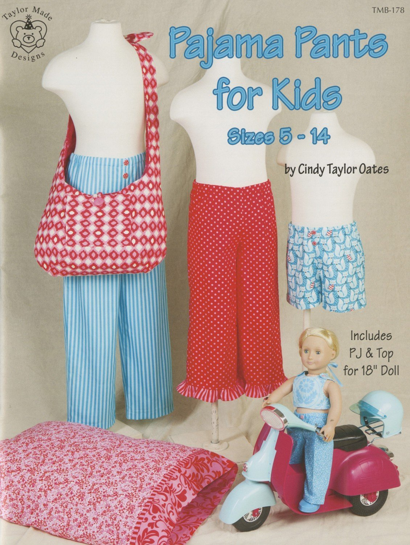 Pajama Pants for Kids Pattern by Cindy Taylor Oates