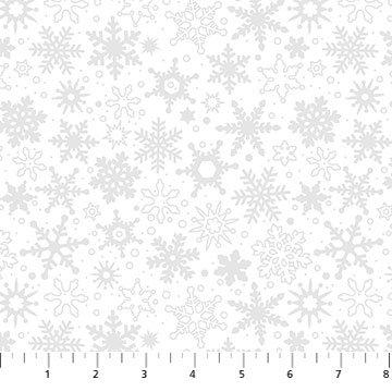 10011M-10 Snowfall BASICALLY BLACK & WHITE SILVER METALIC