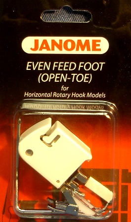 Janome Open Toe Even Feed Foot w/Guide