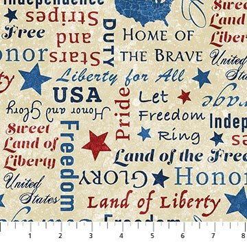 108 x 3YD STONEHENGE STARS AND STRIPES 8 BEIGE MULTI