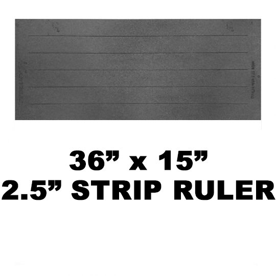 36 Ruler with 2.5 wide strips (32 slot/strip length)