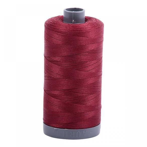 Aurifil Mako Cotton Embroidery Thread 28wt 100yd Dark Carmine Red
