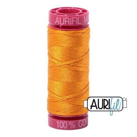 Aurifil Cotton 12wt 54yds Yellow Orange