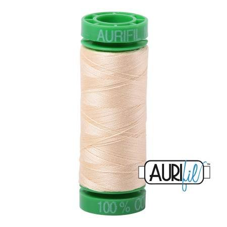 Aurifil Mako Cotton Embroidery Thread 28wt 100yd Butter