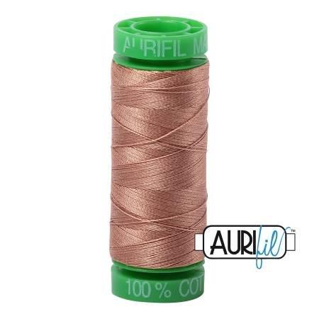Aurifil Mako Cotton Embroidery Thread 28wt 100yd Cafe au Lait