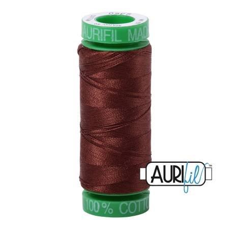 Aurifil Mako Cotton Embroidery Thread 28wt 100yd Chocolate