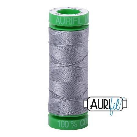 Aurifil Mako Cotton Embroidery Thread 28wt 100yd Grey
