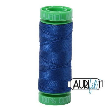 Aurifil Mako Cotton Embroidery Thread 28wt 100yd Dark Cobalt