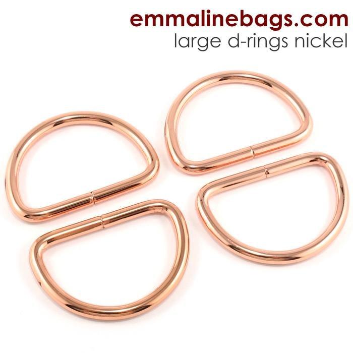 D-ring 1 1/2 (38mm) Copper 4 pk