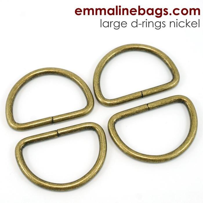 D-ring 1 1/2 (38mm) Antique Brass 4 pk