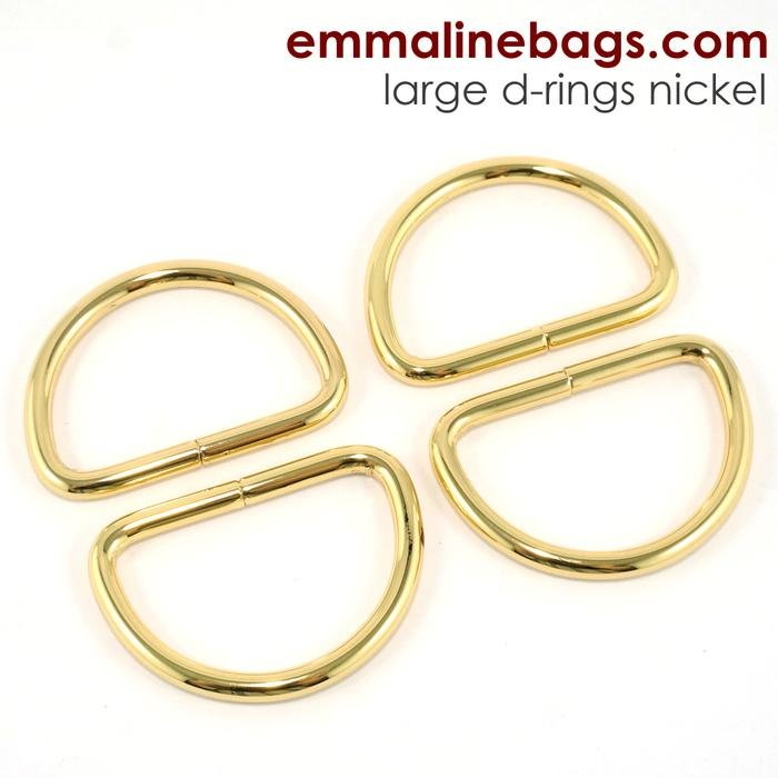 D-ring 1 1/2 (38mm) Gold 4 pk