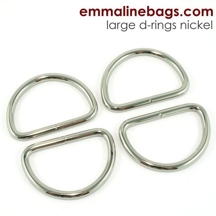 D-ring 1 1/2 (38mm) Nickel 4 pk