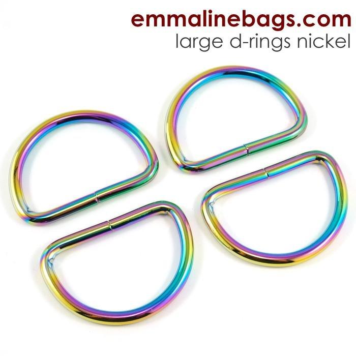 D-ring 1 1/2 (38mm) Iridescent Rainbow 4 pk