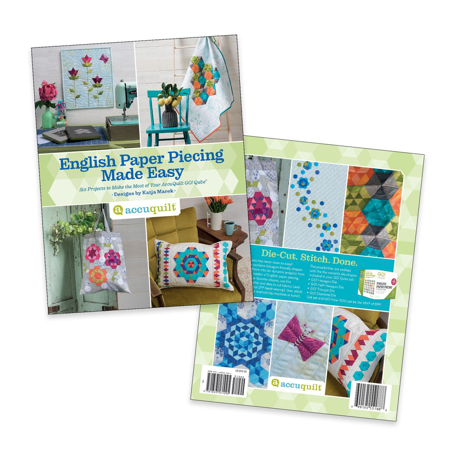 English Paper Piecing Made Easy Pattern Book by Katja Marek - 55188