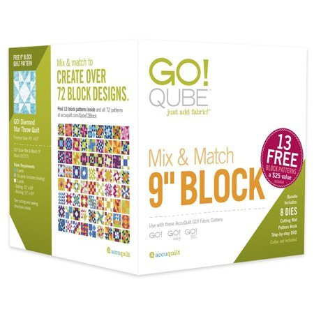 AccuQuilt GO! Qube Mix & Match 9 Block - 55777