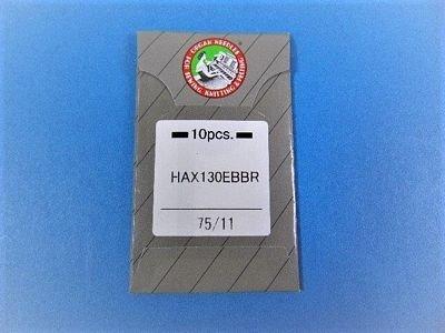 Organ HAX130EBBR Embroidery Needle Size 75/11 10pk - HAX130EBBR11