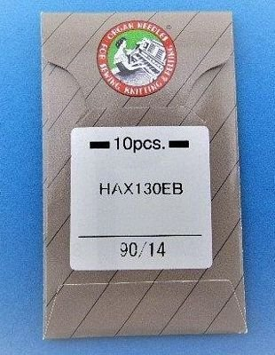 Organ Embroidery Needle Size 90/14 10pk -HAX130EBBR14