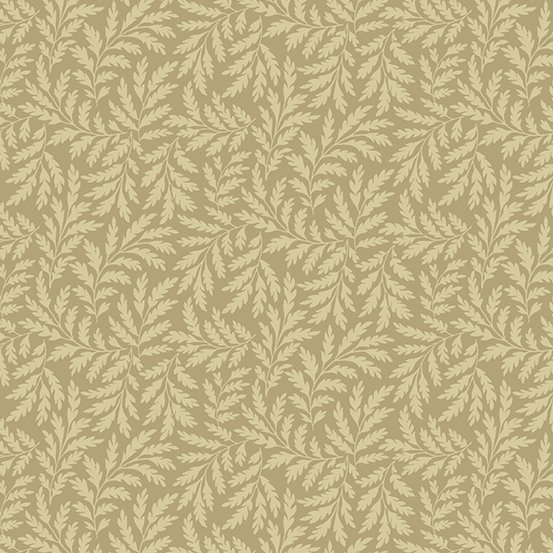 Hat Box - Taupe Leaves