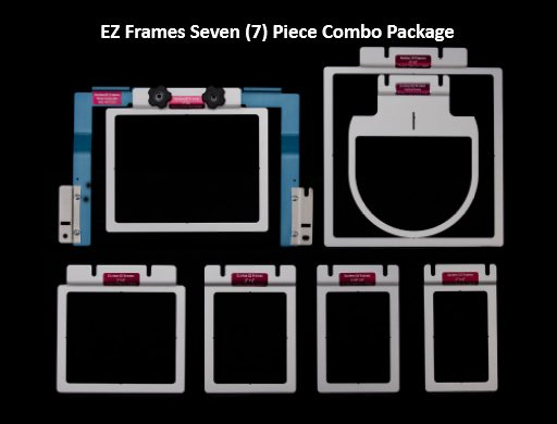 Durkee EZ Frames 7 PC Combo Pak for Brother/Baby Lock 6 & 10 Needle Machines for A Arms