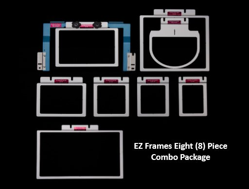 Durkee EZ Frames 8 PC Combo Pack for Brother/Baby Lock 6 & 10 Needle Machines for A Arms