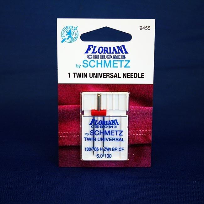 Floriani Chrome by Schmetz Twin Universal 4.0/90 Needles - 9454