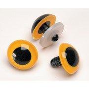 Animal Eye with Washer Yellow 24mm 2 ea - AE80C-01