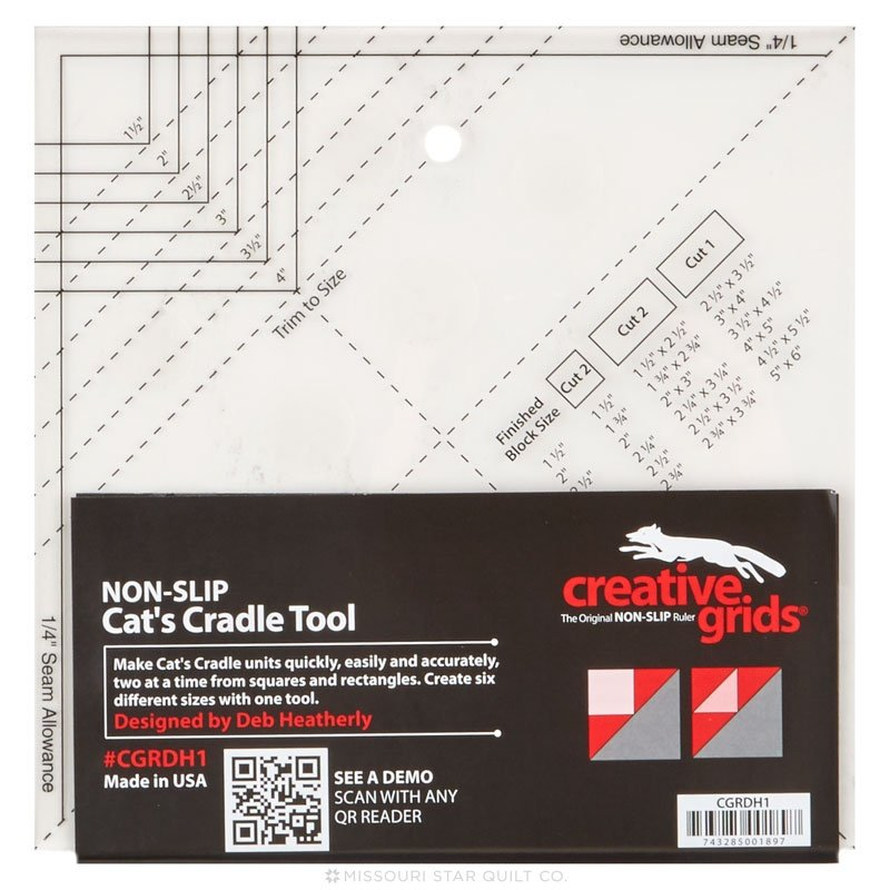 Creative Grids Cats Cradle Tool Quilt Ruler - CGRDH1