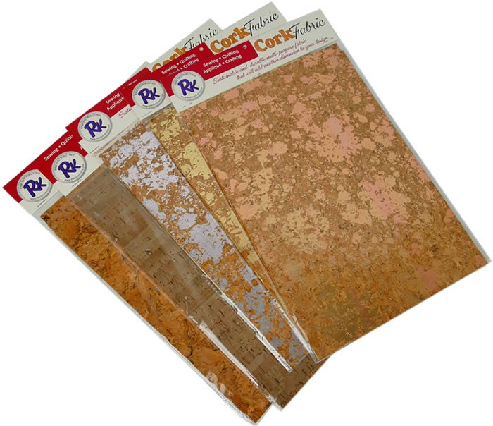 RNK Cork Fabric SILVER 5 Sheets 8.5x11 - R-CKSI-811