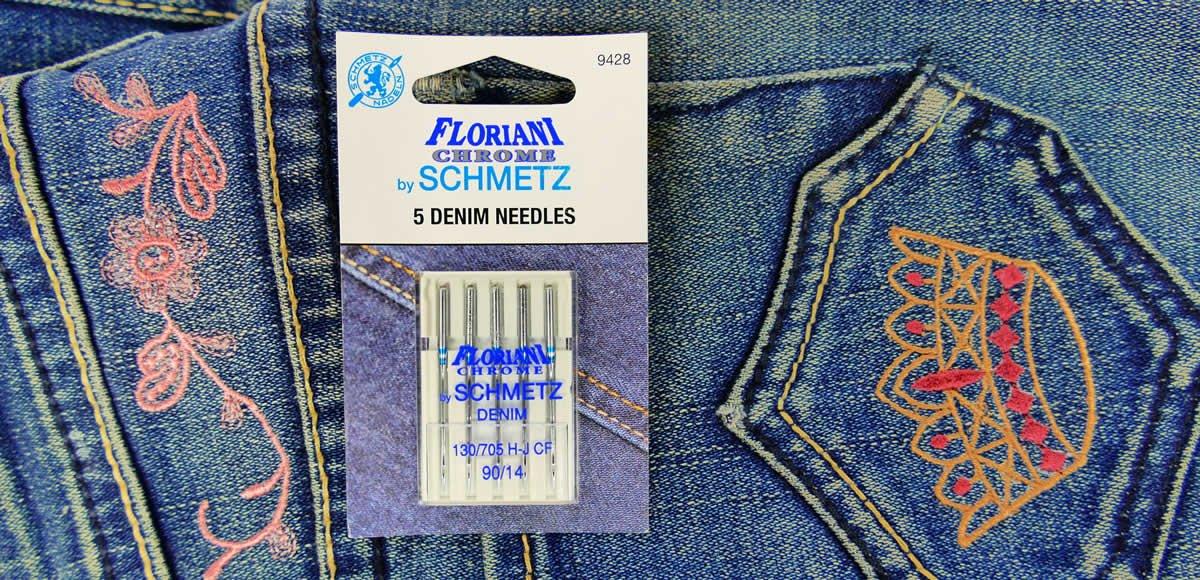 Floriani Chrome by Schmetz Denim 90/14 Needles - 9428