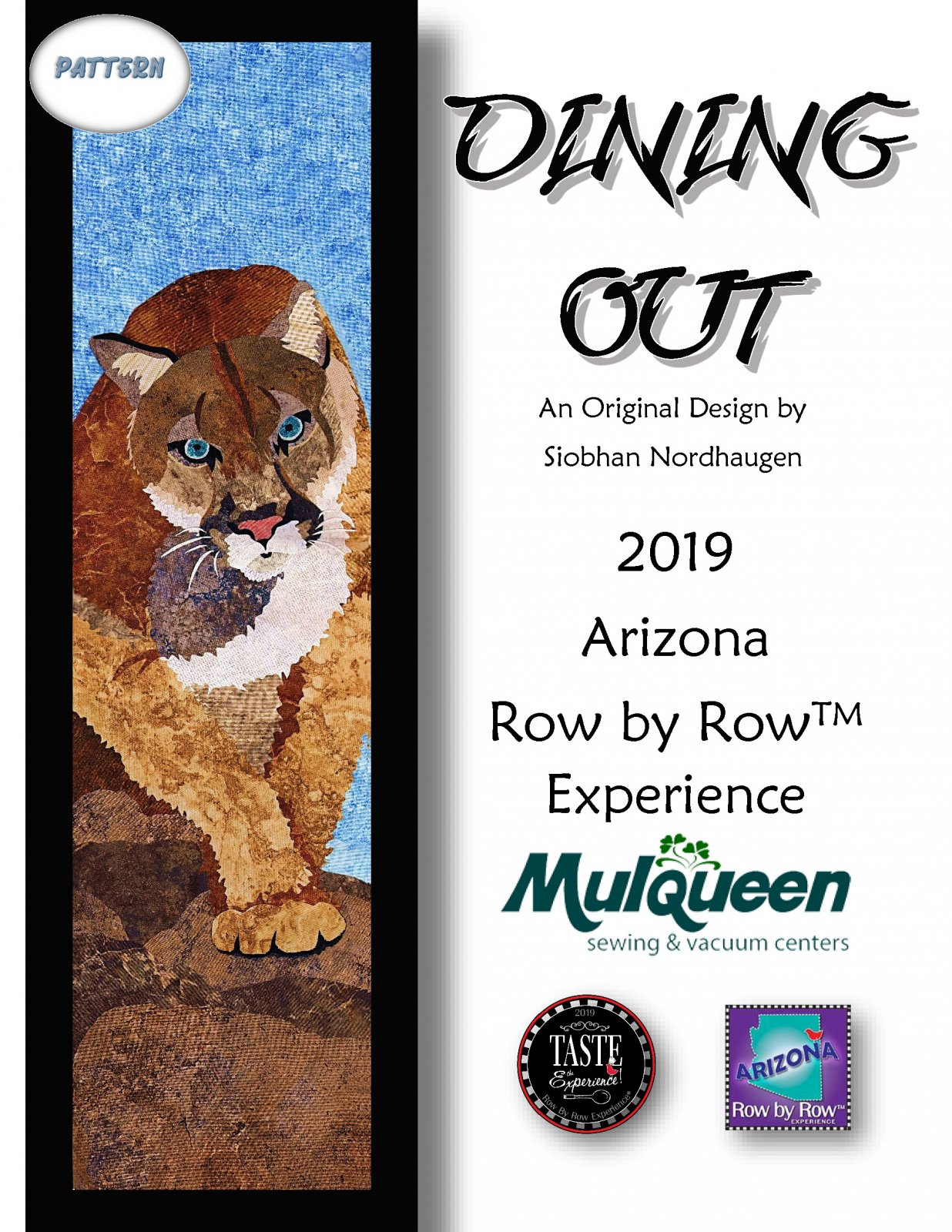 2019 Row by Row Dining Out PATTERN ONLY - RBR19DOP