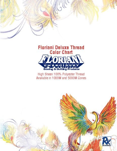 Floriani Deluxe Thread Color Chart