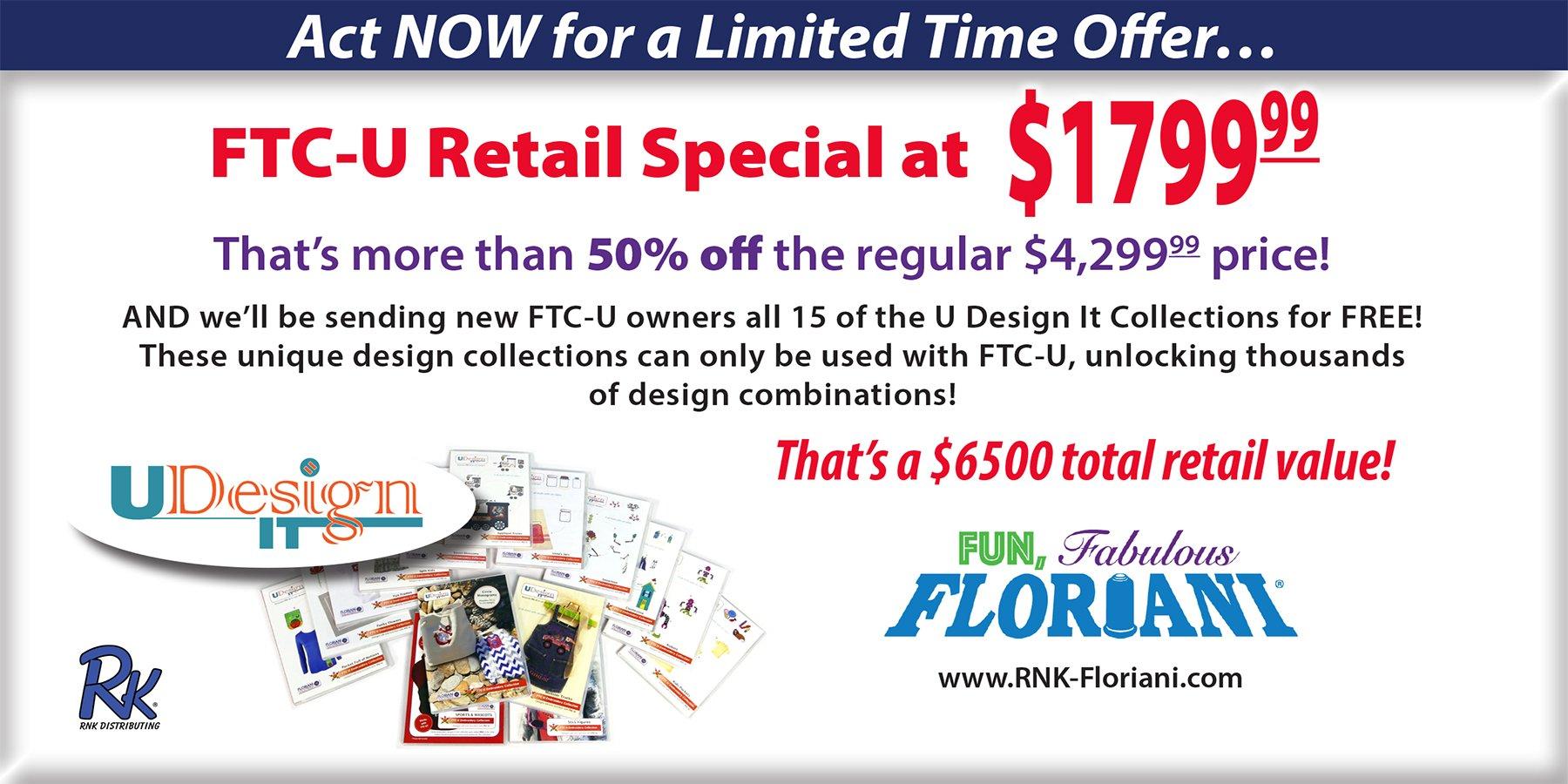 Floriani Total Control U Special Event Bundle - FTCU-SB