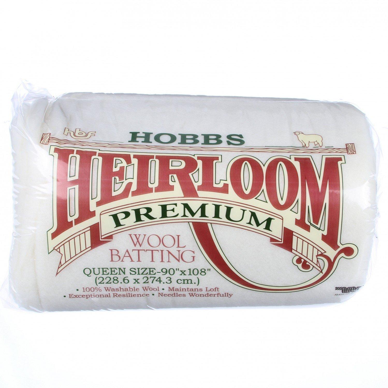 HOBBS Batting Heirloom 100% Wool 90in x 108in # HWL90