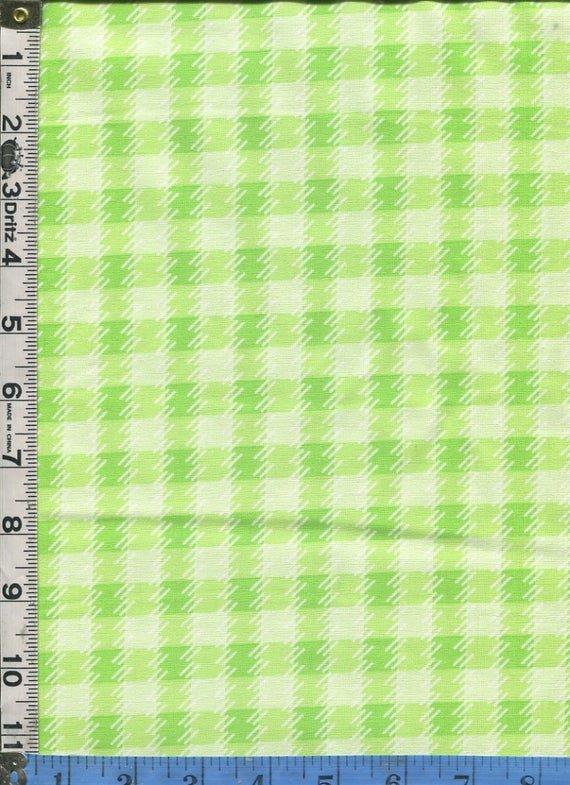 Zoo Baby - Green Printed Check