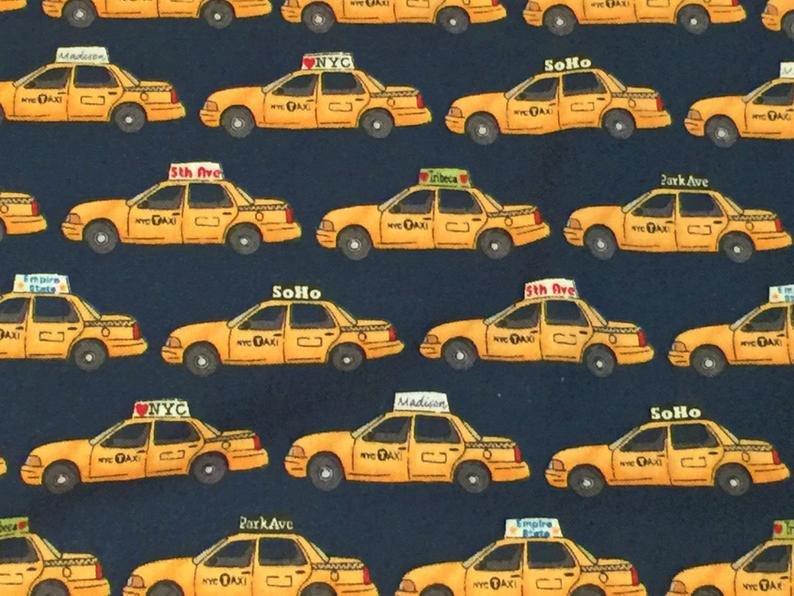 NYC Taxi Cabs - Yellow Retro - NYC, Soho, Park Ave., Empire State