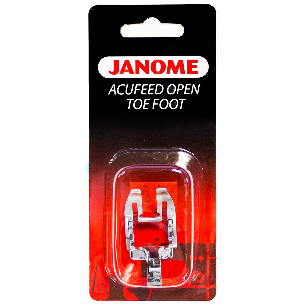Janome AcuFeed Open Toe Satin Stitch Foot 7mm - 846410003