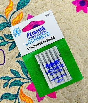 Floriani Chrome by Schmetz Microtex90/14 Needles - 9433
