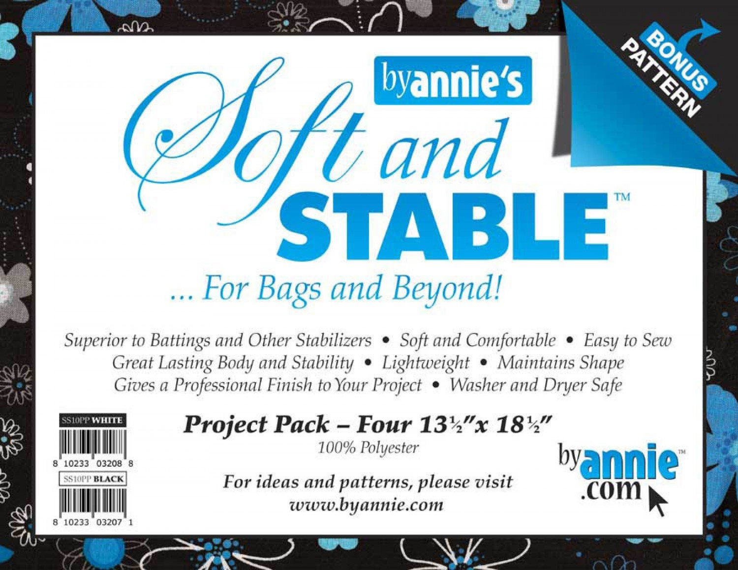 ByAnnie's Soft & Stable Project Packs BLACK  - SS10PP
