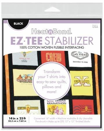 HeatnBond EZ Tee Stabilizer BLACK 14 x 25ft - Q2172